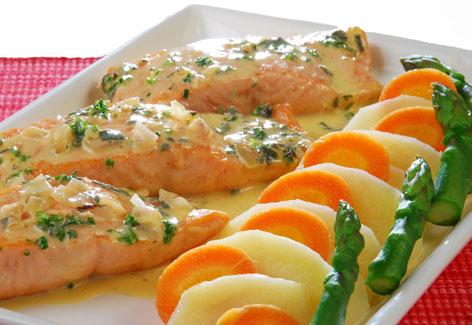 El salm n cocinado en adobo un gran pescado para cocinar - Cocinar pescado en microondas ...