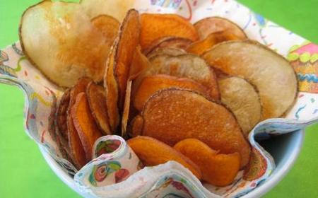 Patatas chips en el horno recetas de cocina for Cocinar patatas al horno